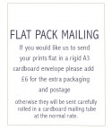 OPTIONAL flatpack mailing FOR PRINTS
